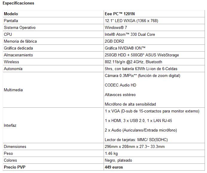 Asus Eee PC 1201N 03