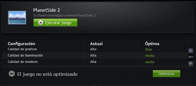PlanetSide 2 NVIDIA GeForce Experience