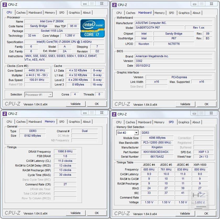 OC CPU Z