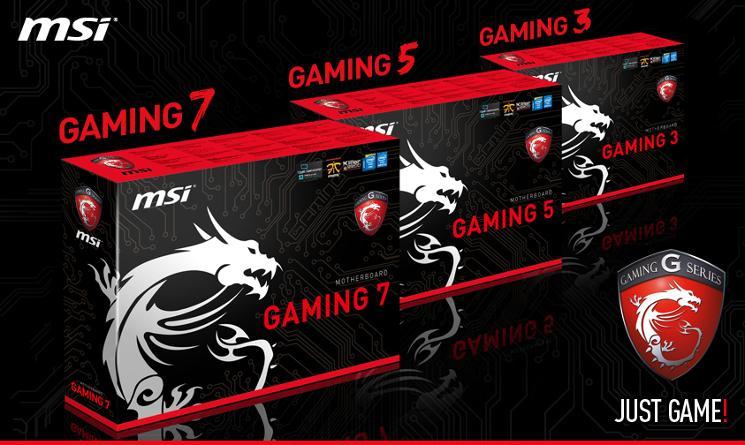 msi next gen gaming series motherboards brand shot