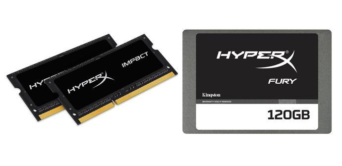Kingston HyperX Fury SSD y Memorias
