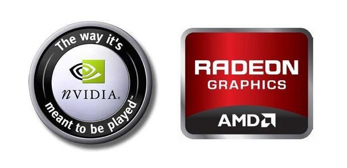 NVIDIA vs AMD logos