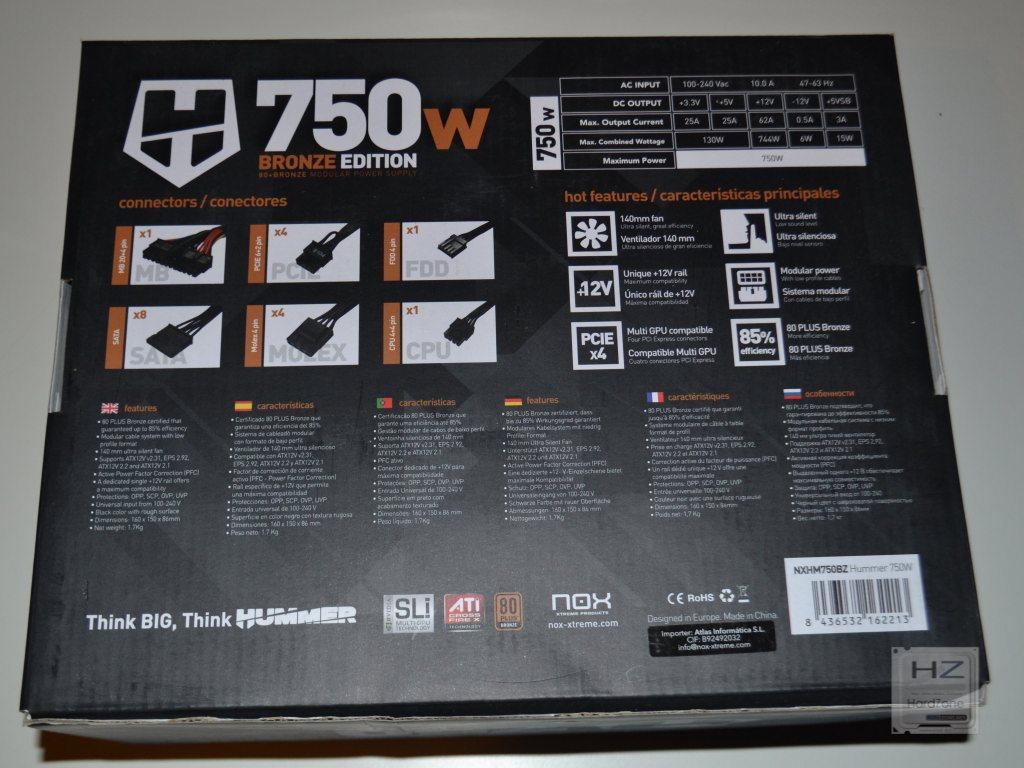 NOX Hummer Bronze Edition 750W -003