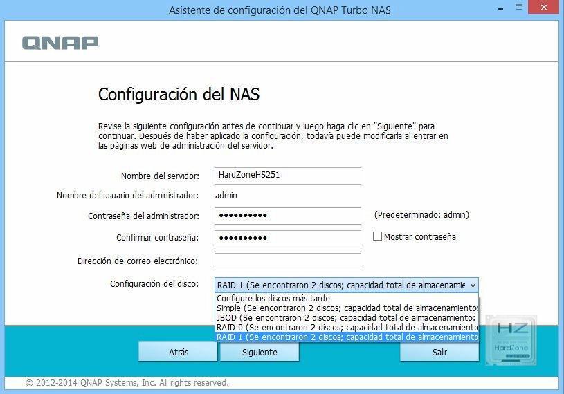5.1.- Configuración RAID