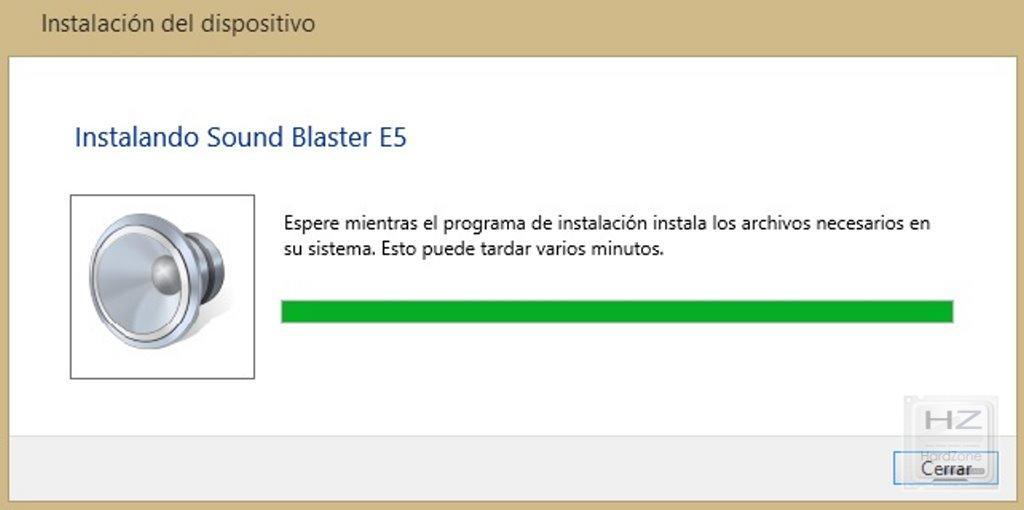 Instalacion sound blaster e5