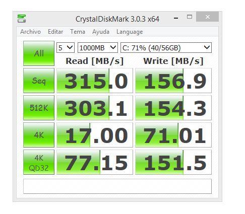 crystal diskmark msata