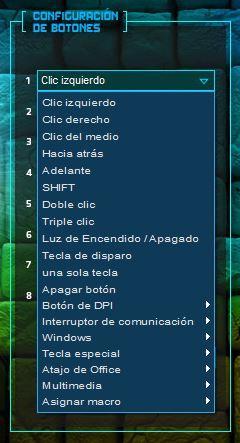 2.- Configuración de botones