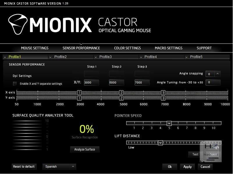 3.- Sensor performance