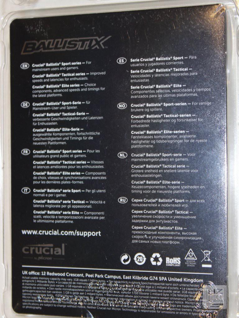 CRUCIAL BALLISTIX SPORT DDR4005