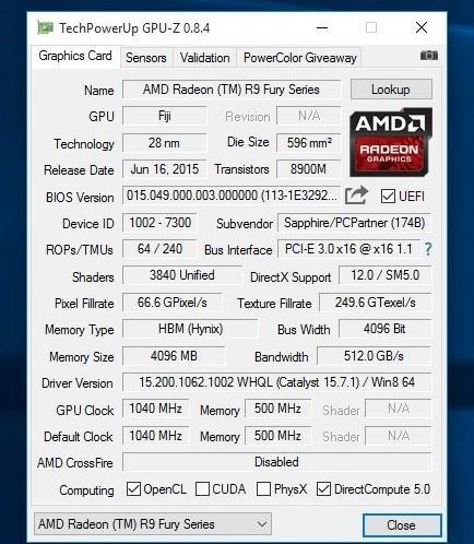 Fiji GPU desbloqueada