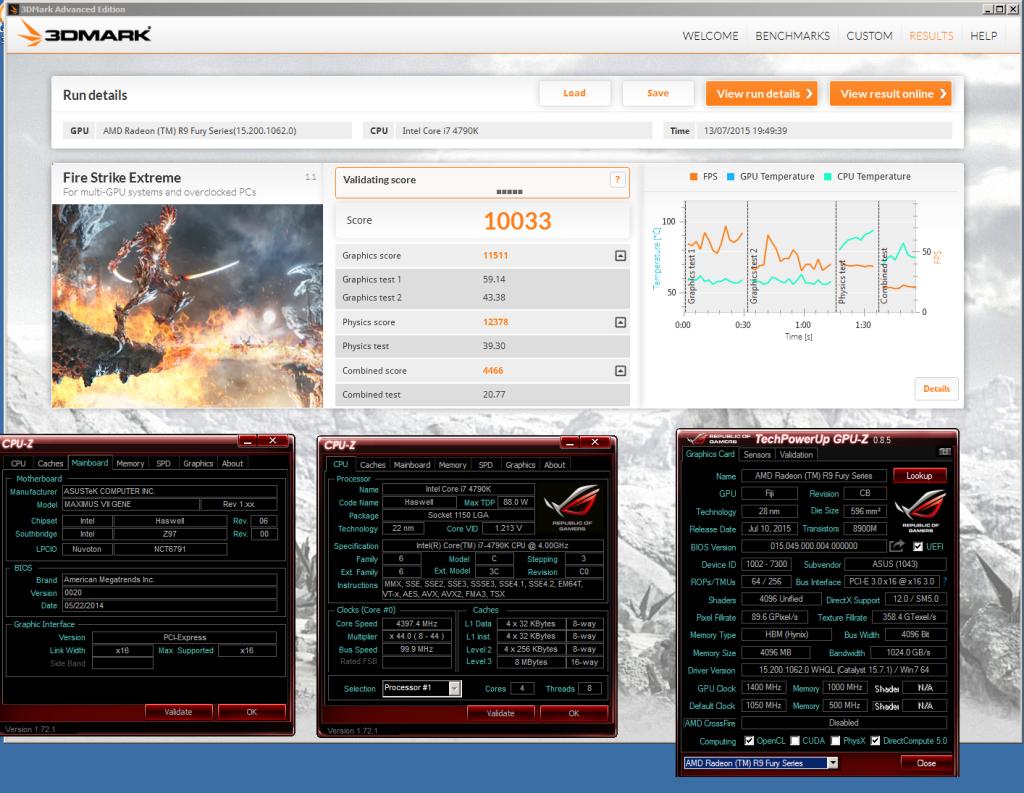 Radeon R9 Fury 3DMark FS Extreme OC desbloqueada