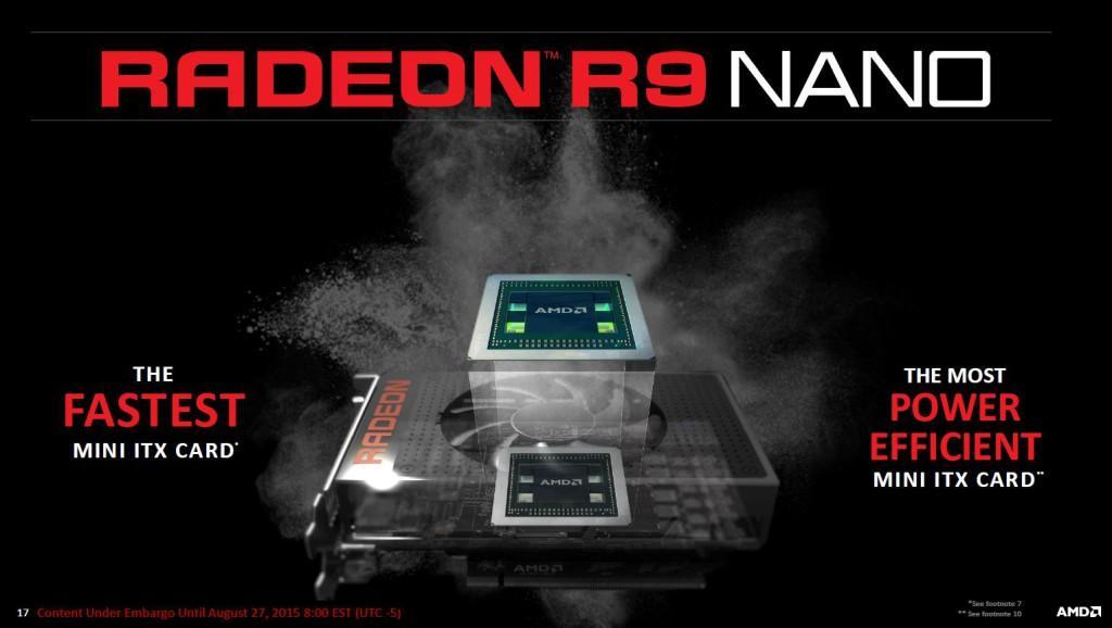 Radeon R9 Nano potente eficiente