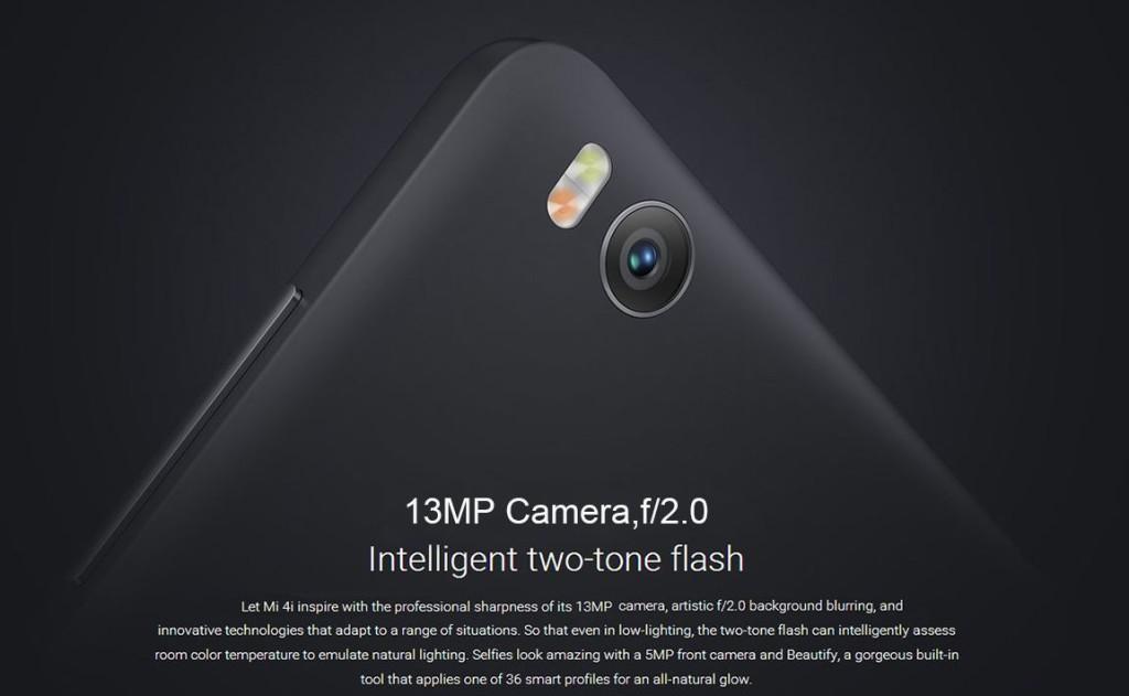 Xiaomi Mi4I Cámara