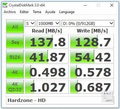 Crystaldisk Mark HD