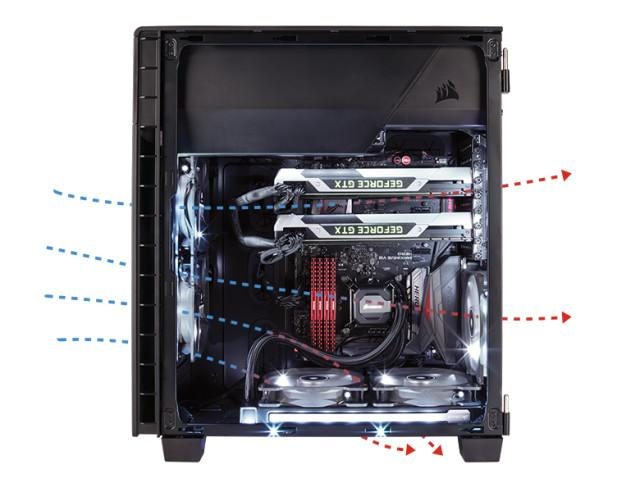 Corsair Carbide 600C airflow