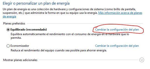 Plan de energía