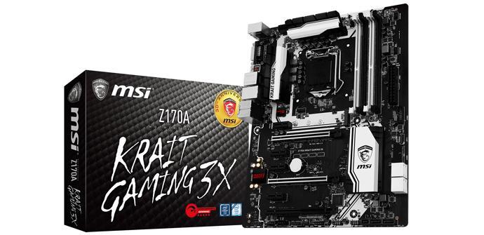 MSI presenta la nueva Z170A Krait Gaming X3