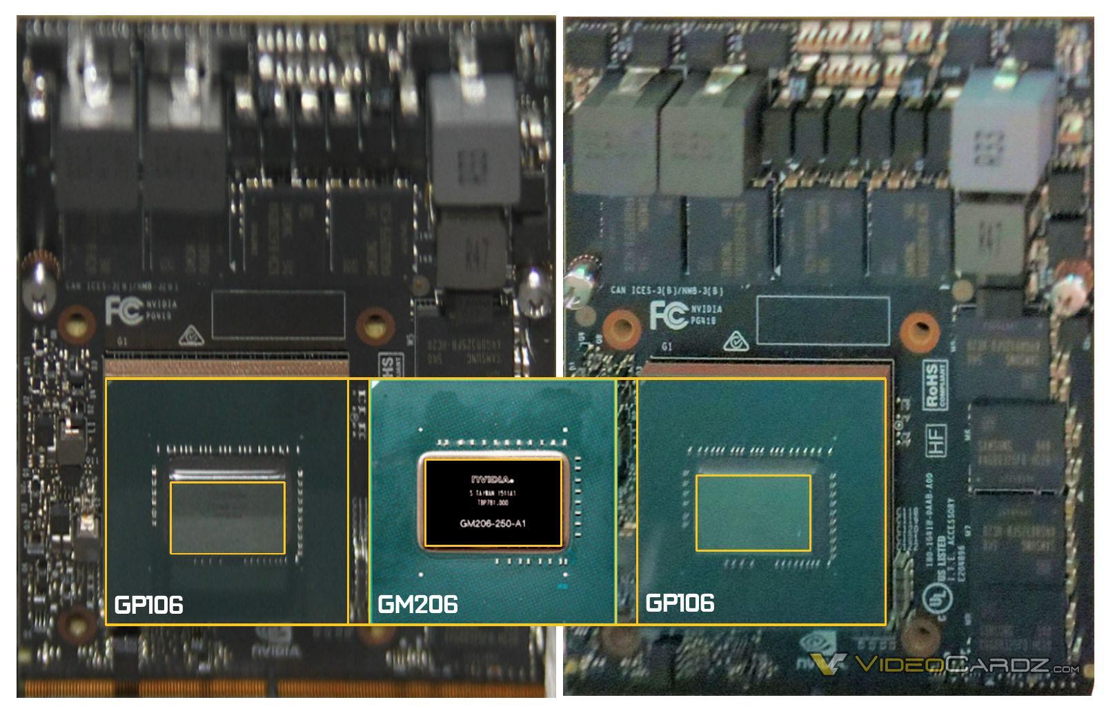 Nvidia Pascal GP106 die