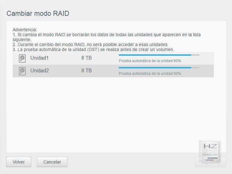 3.2.- Cambiar RAID0