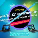 El 12 aniversario de Chuwi durará hasta el 25 de Septiembre