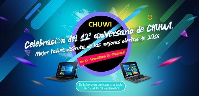 Ver noticia 'El 12 aniversario de Chuwi durará hasta el 25 de Septiembre'