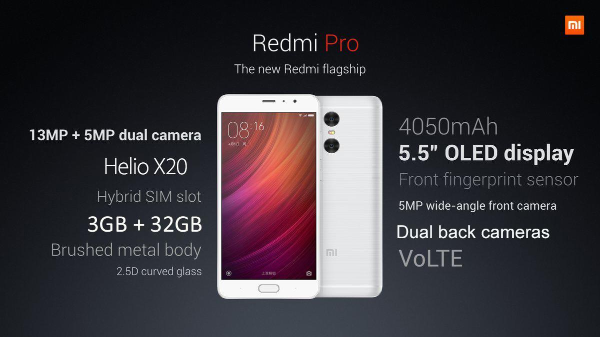 RedMi Pro Specs