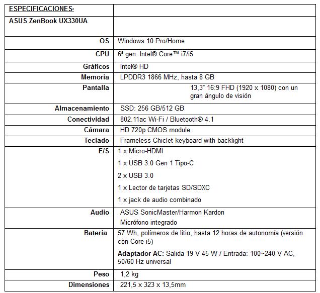 Asus ZenBook UX330UA 05