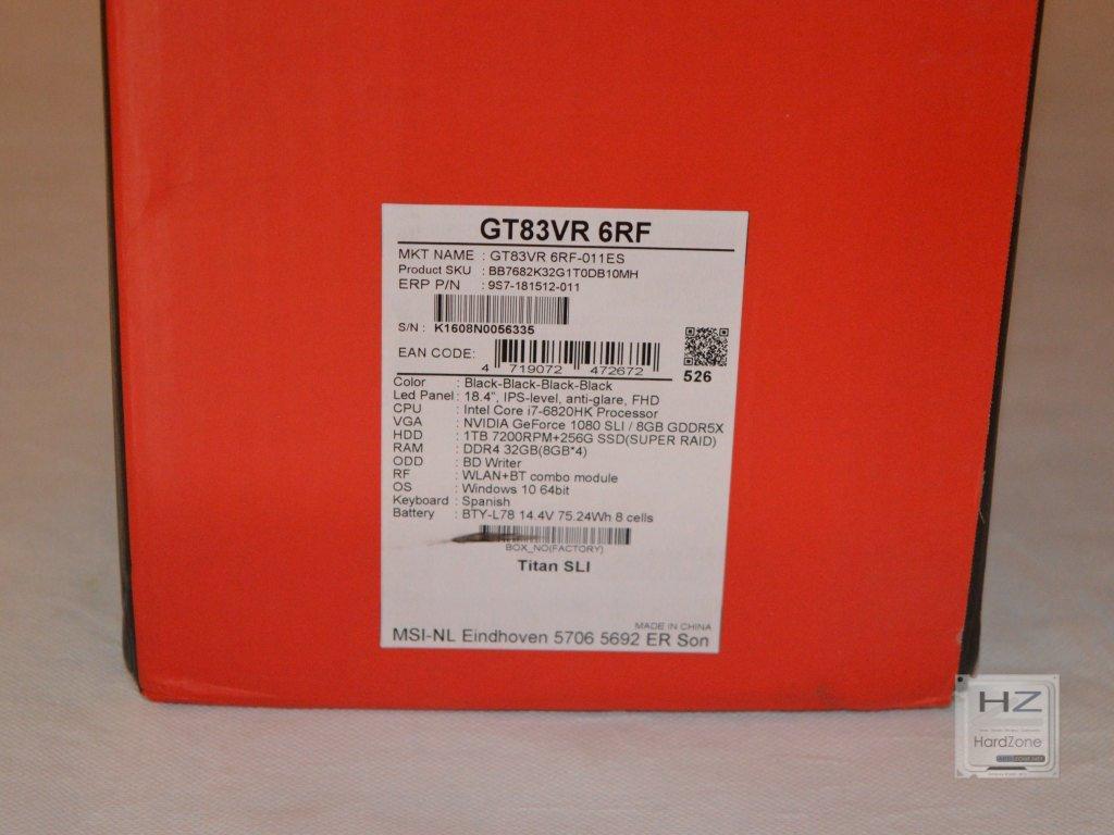MSI GT83 -003
