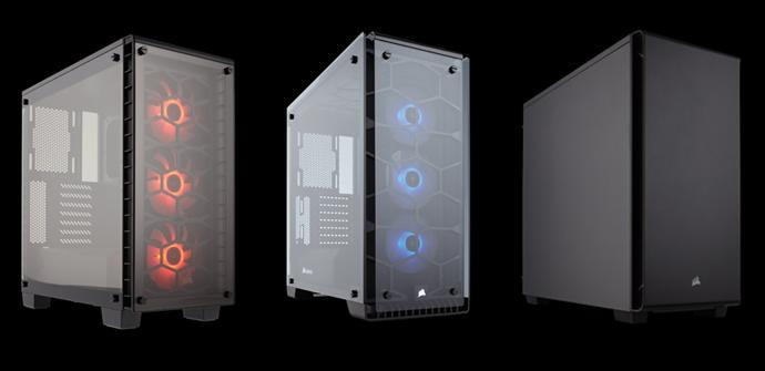 Corsair lanza tres nuevas cajas de la serie Crystal y Carbide