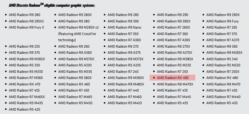 Radeon RX 490