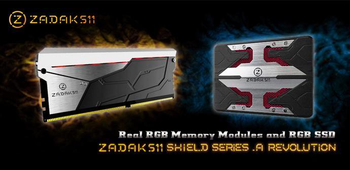 ZADAK511 desvela memorias RAM DDR4 y SSDs con iluminación RGB
