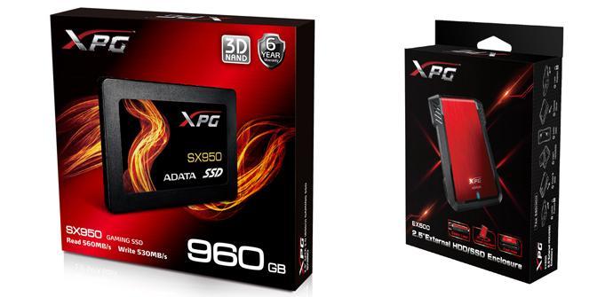 ADATA lanza su SSD de alto rendimiento XPG SX950 y caja externa EX500