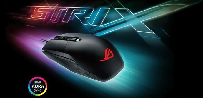 Asus anuncia el ratón ambidextro ROG Strix Impact para gamers