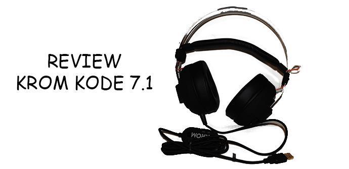 Analizamos los cascos Krom Kode, unos auriculares 7.1 que os gustarán
