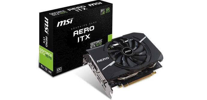 MSI anuncia su nueva familia de gráficas Aero para sistemas mini ITX