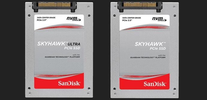 SanDisk anuncia sus nuevos SSDs profesionales SkyHawk PCIe NVMe