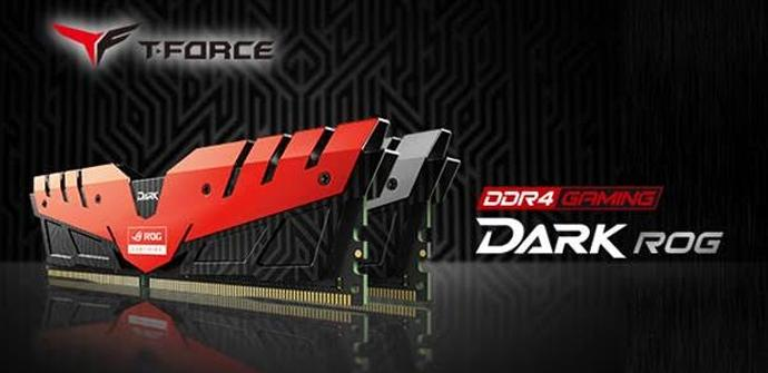 Team Group anuncia certificación ROG para sus memorias T-Force Dark