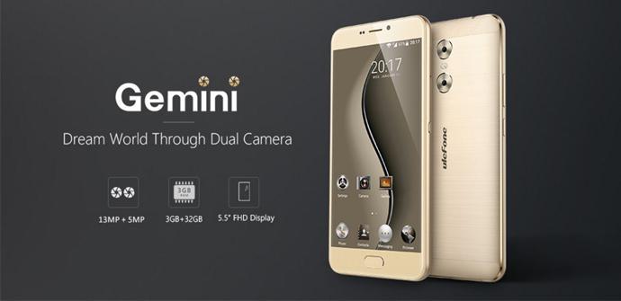 Ulefone Gemini, el phablet de doble cámara más asequible del mercado