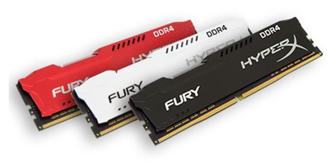 HyperX expande su gama de memorias Fury DDR4 hasta los 2.666 MHz