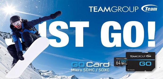 Team Group anuncia las tarjetas de memoria GO Card para cámaras deportivas