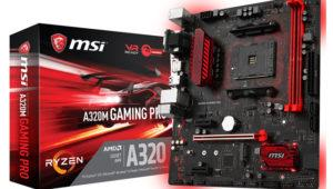 MSI sigue lanzando placas base para el socket AM4 y chipset A320