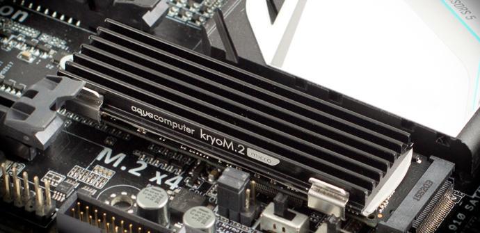 Aqua Computers lanza el KryoM.2 Micro, disipador para SSDs M.2