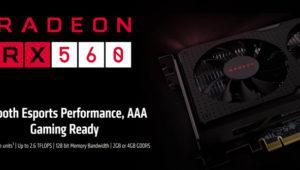 AMD lanza sin siquiera anunciar la nueva tarjeta gráfica Radeon RX 560