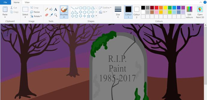 Ver noticia 'Microsoft Paint ha muerto. Microsoft lo sustituye con el Paint 3D definitivamente'