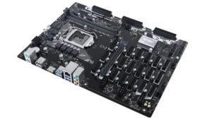 La Asus B250 Expert Mining viene con 19 zócalos de expansión