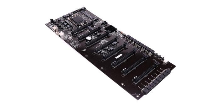 Ver noticia 'Colorful muestra una extraña placa para minado con ocho zócalos PCIe'