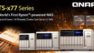 La nueva serie QNAP TS-x77 tiene en su interior un Ryzen 7 1700