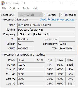 Core Temp 1.11