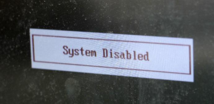 sistema deshabilitado bios
