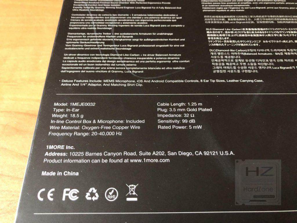 1MORE E1010 Quad Driver - Specs